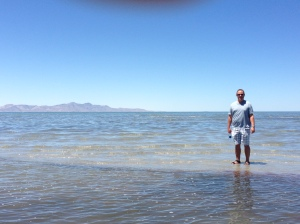 Mike in the Great Salt Lake