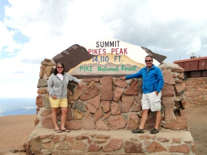 At the top of Pike's Peak