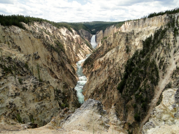 Yellowstone River and Waterfall