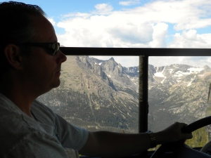 Driving through Rocky Mountain National Park on our way to Steamboat