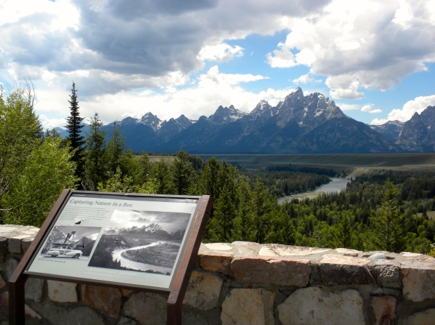 Ansel Adams took a pic of this amazing view of the Snake River & Tetons in 1942.  I tried to capture the same shot - pretty impressive!