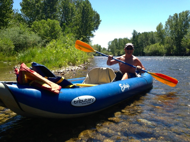 Kayaking the Boise River