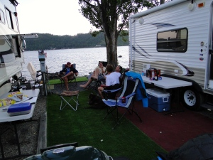 Our Campsite on the lake