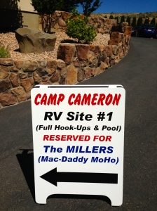 Our welcome at Camp Cameron