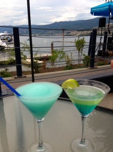 Enjoying the Barking Parrot deck in Penticton