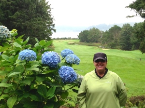 Golfing at Salishan - views of the ocean!