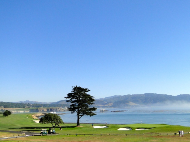 18th green at Pebble Beach