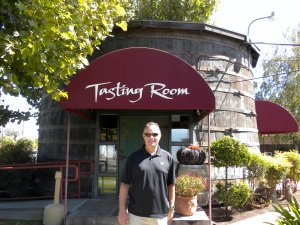 Tasting Room is a wine barrel!