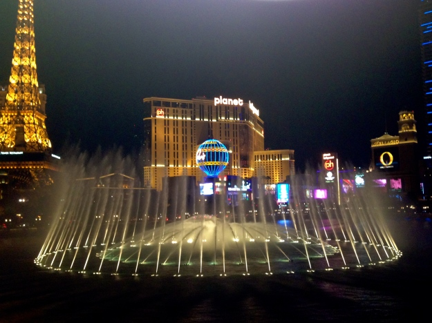 The view from our dinner at Bellagio (the crazy)