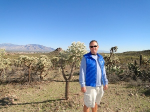 Mike in a field of Cholla's
