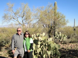 Dad and I on our hike in Saguaro National Park
