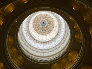 Inside the Capital Building looking up, Austin