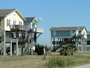 This is how all of the houses are built - on stilts!