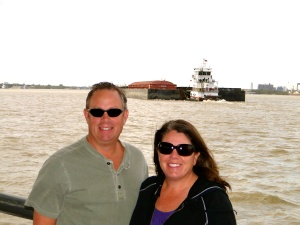 Mississippi River ferry crossing