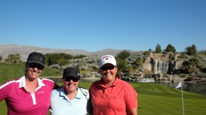 Sunny, Me & Shelly golfing