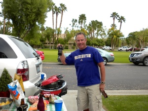 Mike on the BBQ!