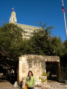 In front of the Alamo, San Antonio