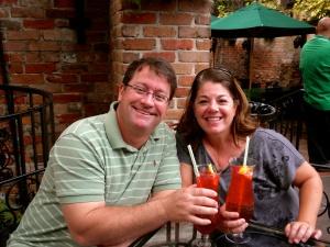Craig & I enjoying our Hurricane's at Pat O'Briens