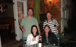 Craig, Mike, Kim & I at Cafe Amelie