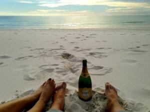 Mimosa's on the beach!