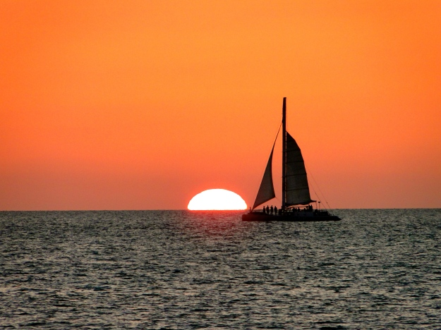 Sunset in Key West from Mallory Square