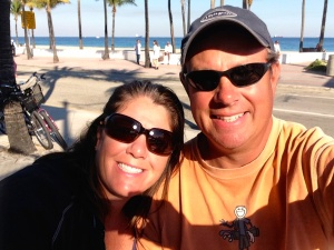 Mike & I in Ft. Lauderdale before picking mom up