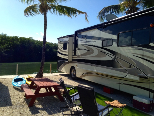 Our spot in Key Largo, Calusa Campground