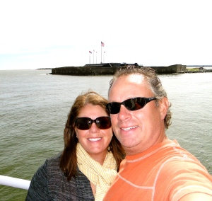 On our boat tour, Ft. Sumter in background