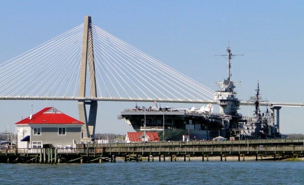 USS Yorktown and Ravenel bridge, Charleston