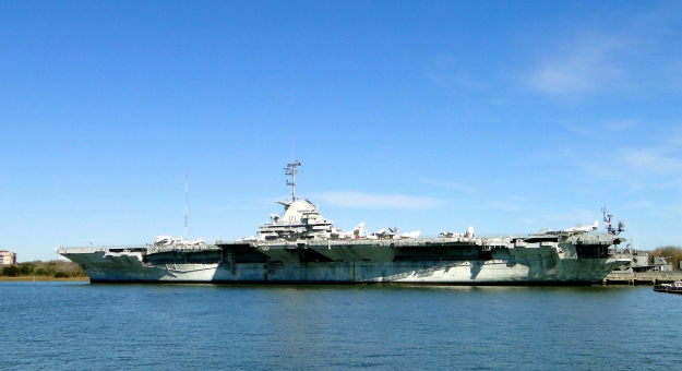 USS Yorktown, a WWII era aircraft carrier