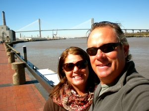 River walk in Savannah, GA