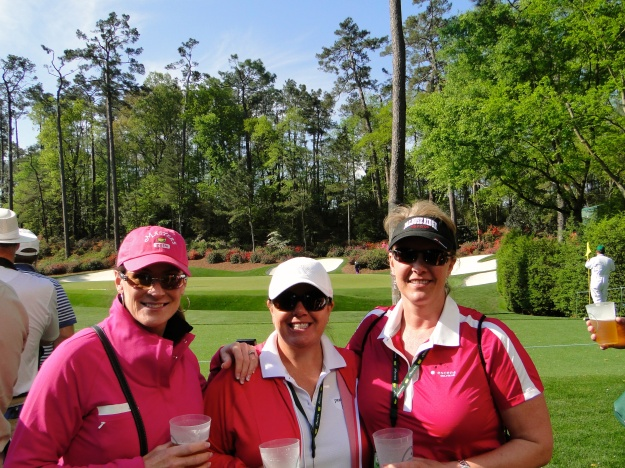 Nicole, Traci & Sunny in front of the 13th green