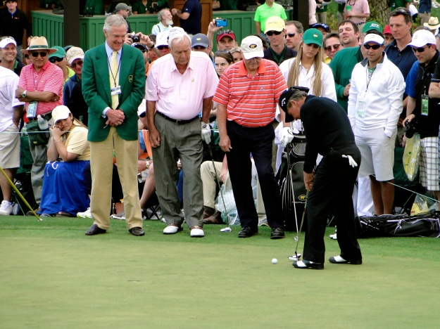 Arnold Palmer, Jack Nicklaus & Gary Player at the Par 3 Contest