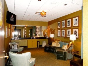One of the many dressing rooms inside the Opry