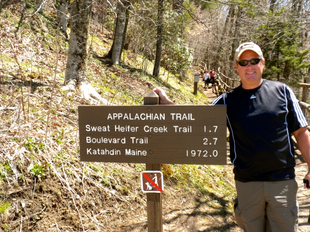 The Appalachian Trail winds through the park