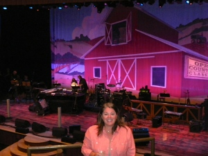 Inside the Ryman, awaiting the show to start