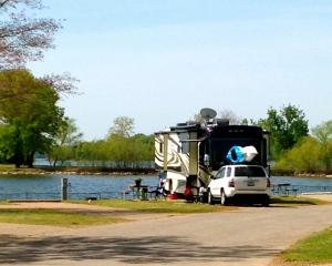 Our spot at Nashville Shores RV Park