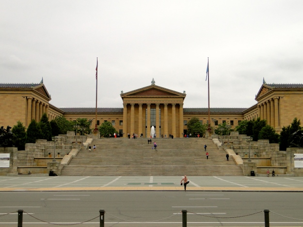 The famous steps, Philadelphia Museum of Art