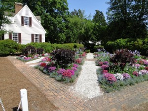 Meticulous gardens in Williamsburg