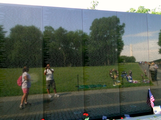 Reflection of Mike & I and Wash. Monument