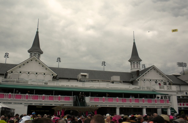 The recognizable spires of Churchill Downs