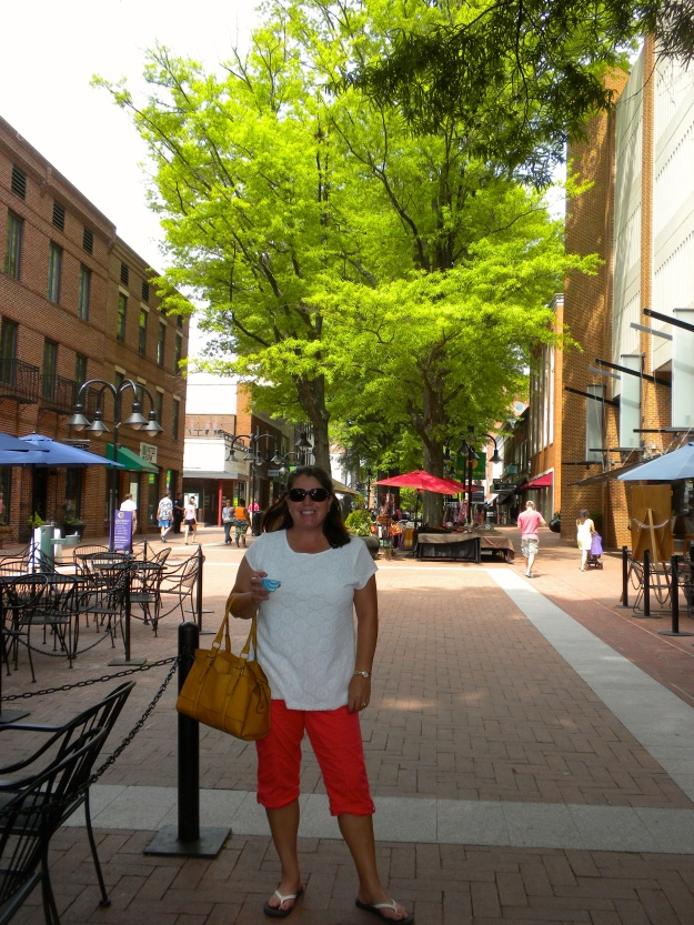 The outdoor mall in downtown Charlottesville