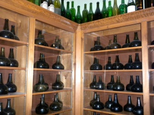 The winery has one of the largest collection of these historic wine bottles