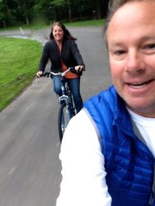 Cruising around the park