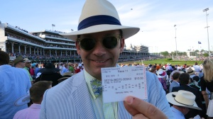 Charles with the winning ticket