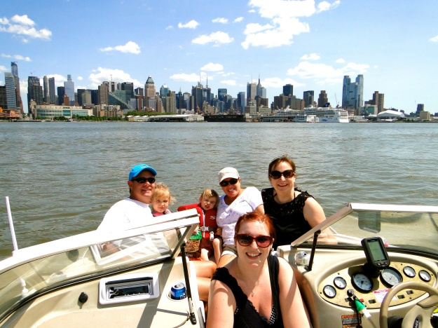 Out in the boat on the Hudson