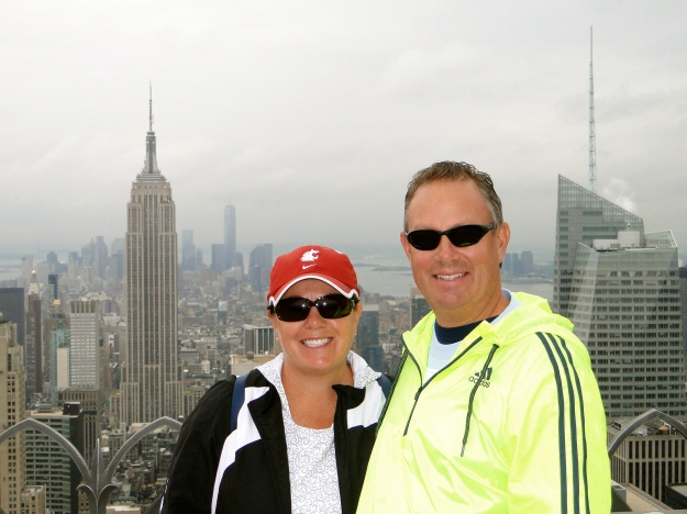 Top of the Rock, Empire State Building behind us