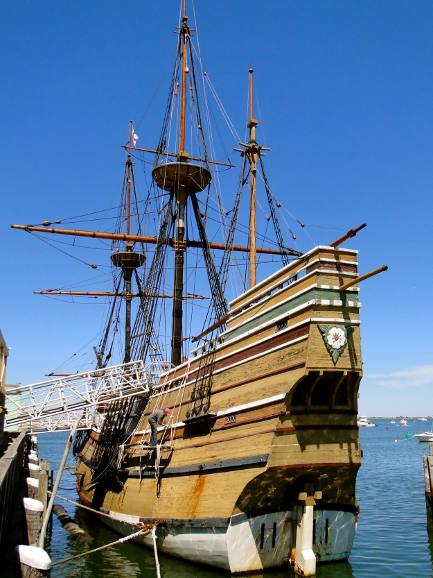 The Mayflower 2, a replica of the original in Plymouth