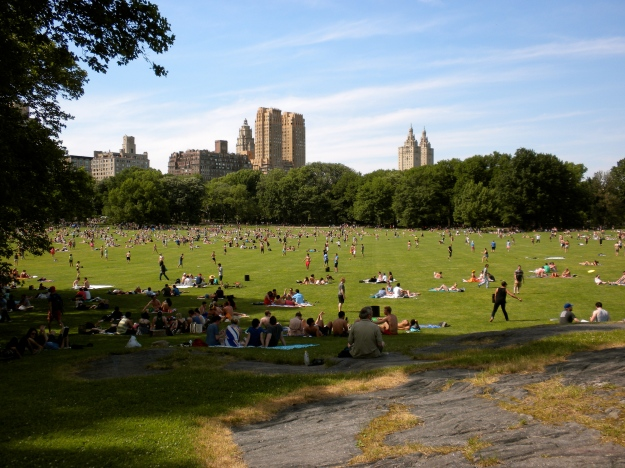 A crowded day on the Great Lawn in Central Park