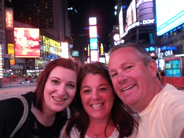 Michelle, Traci & Mike in Times Square